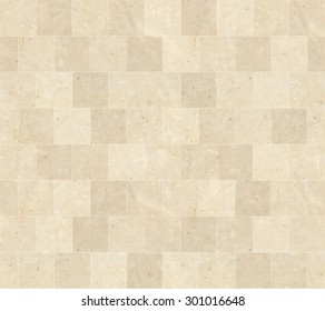 Seamless Beige Marble Stone Tiles Texture with White Joint Line
