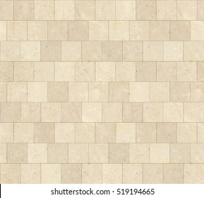 Seamless Beige Marble Stone Tiles Texture With Black Joint Line