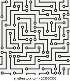 Seamless black electronic pattern