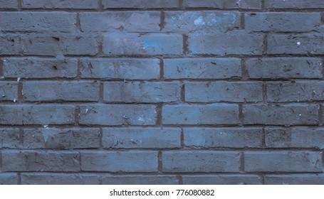 Seamless blue brick wall