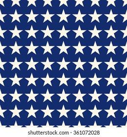 Seamless blue and white fashion stars pattern