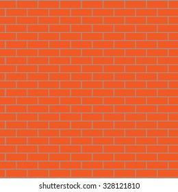 Seamless brick wall orange. Pattern background, surface stone, concrete block, design exterior, vector art design abstract unusual fashion illustration