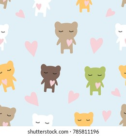 Seamless children's pattern texture with bears