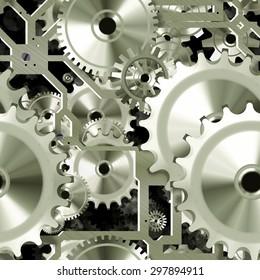 Seamless clockwork pattern
