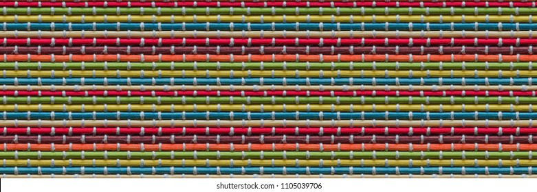 Seamless colored bamboo background. Texture, design Pattern