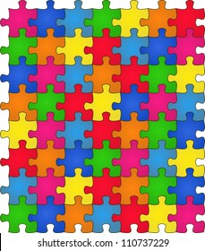 Seamless Colorful shiny Rainbow puzzle