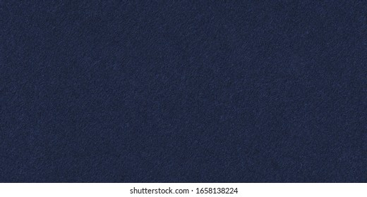 Seamless dark blue felt background texture. Surface of  blue fabric high resolution. Wide panoramic banner.