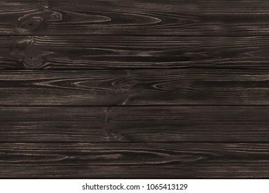 SEAMLESS dark brown wooden old planks background. Wood texture.