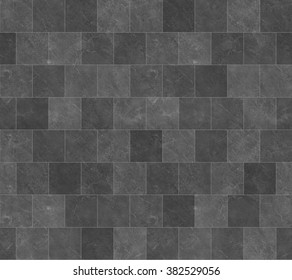 Seamless Dark Grey Marble Stone Tile Texture with White Joint Line