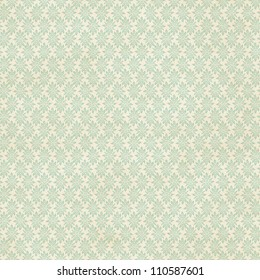 Seamless delicate geometric pattern on vintage paper background