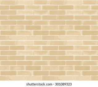 Seamless design vintage style yellow beige cream tone brick wall detailed pattern textured background