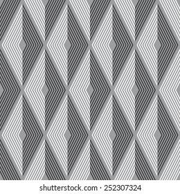 Seamless diamond optical pattern vector