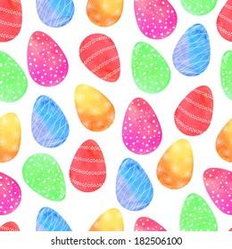 Seamless easter eggs pattern