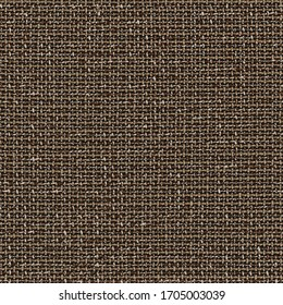 Seamless fabric textile pattern. High resolution close up of brown fabric cloth made of various thick threads. This fabric texture is seamless (tileable) and can be used as textile material surface.