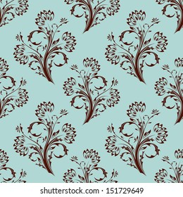 Seamless floral background. Abstract pattern.
