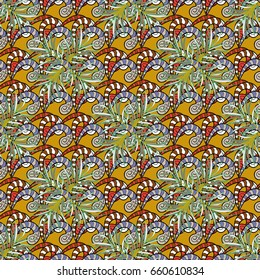 Seamless floral pattern. Abstract floral background. Seamless pattern with many small flowers.