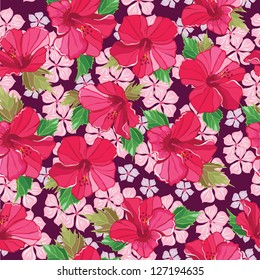 Seamless floral pattern , hand-drawing.