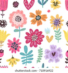 Seamless floral pattern Pastel texture