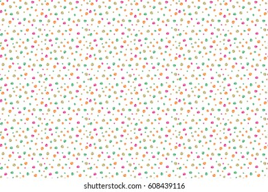 Seamless floral wallpaper in green and yellow colors. Hand-drawn wildflowers on a white background. Seamless pattern can be used for web page background, surface textures and fabrics.