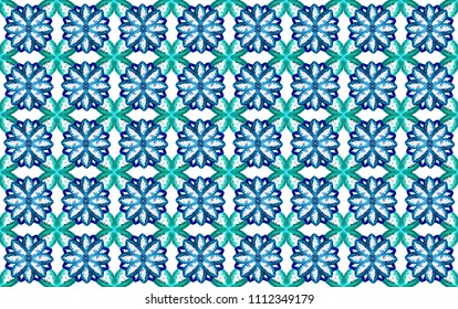 seamless floral wrapping paper design turquoise and blue