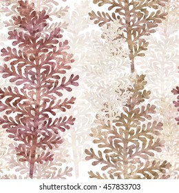 seamless graphic background with silver leaf plant, old paper texture