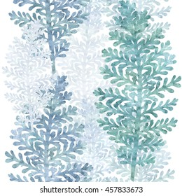 seamless graphic border with silver lace  plant leaves
