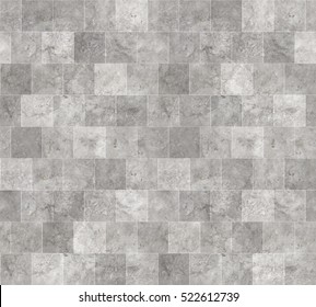 Seamless Grey Marble Stone Tile Texture with White Joint Line