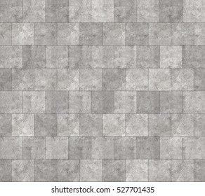 Seamless Grey Marble Stone Tile Texture with Black Joint Line