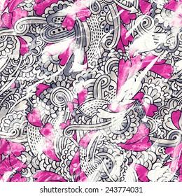 seamless grunge valentine pattern