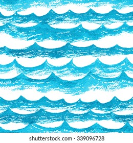 Seamless hand drawn wavy pattern
