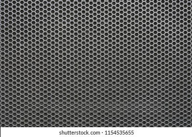 Seamless hexagon perforated metal grill pattern