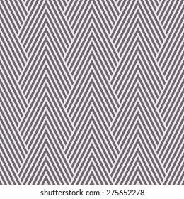 Seamless inverse black and white art deco optical chevron mountains pattern