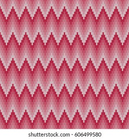 Seamless jacquard knitting pattern. Knitwear texture. Illustration.