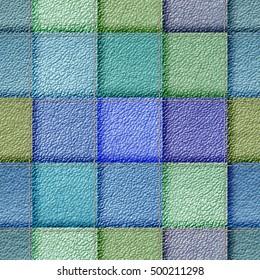 seamless jeans patchwork background 3D illustration