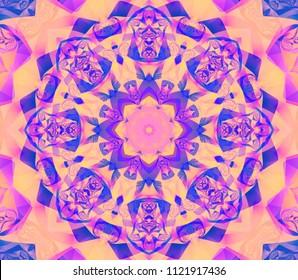 Seamless kaleidoscope pink texture. Illustration for design. Bright flower.