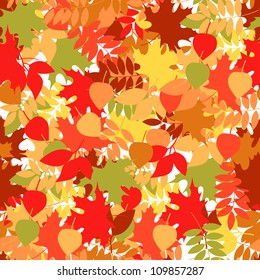 A seamless leaf pattern  raster version background.