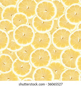 Seamless Lemon Slice Pattern