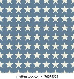 Seamless light blue fashion stars pattern