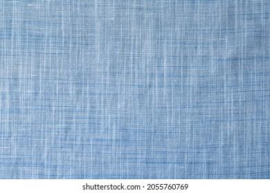 Seamless light blue grey naturel cotton textile background. Very detailed. Linen pattern