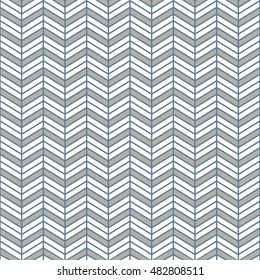 Seamless light blue interchanging chevrons pattern
