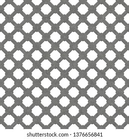 Seamless metal grille.Quadrilateral grille isolated on white background.Quadrilateral plate seamless