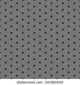 Seamless metal grille.Small asterisk grille isolated on black background.Diamond plate asterisk shape seamless