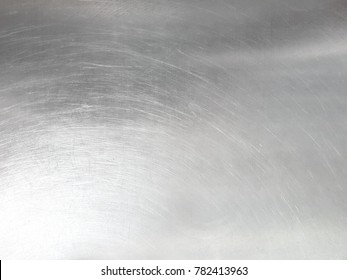 Seamless metal texture. Stainless steel table top for background. Silver surface for design backdrop. with free space for text