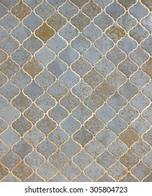 seamless metallic ceramic tile pattern
