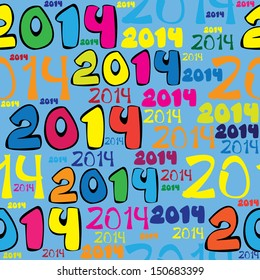 seamless multicolor pattern 2014 year