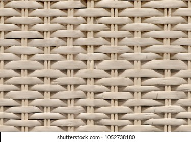Seamless natural white bamboo wicker background, wicker texture