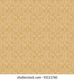 Seamless old wallpaper pattern - yellow