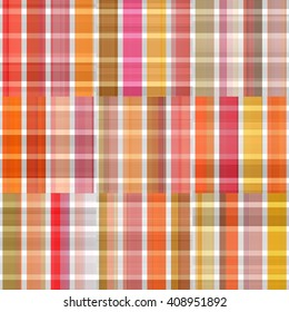 Seamless orange background of plaid pattern