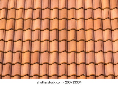 Seamless orange roof tile texture background for continuous replicate.