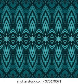Seamless Ornate Pattern. Hand Drawn Damask Texture, Vintage Style